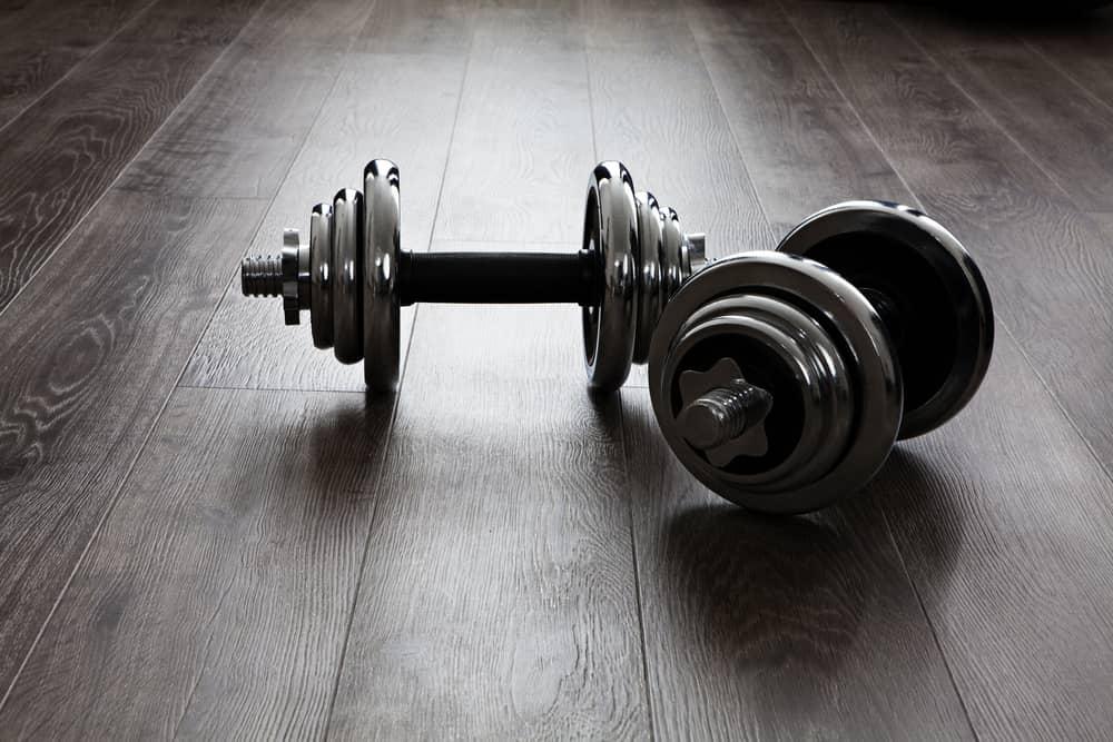 Mancuernas ajustables para entrenar