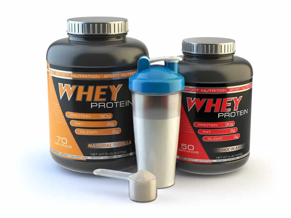 botes de proteína whey