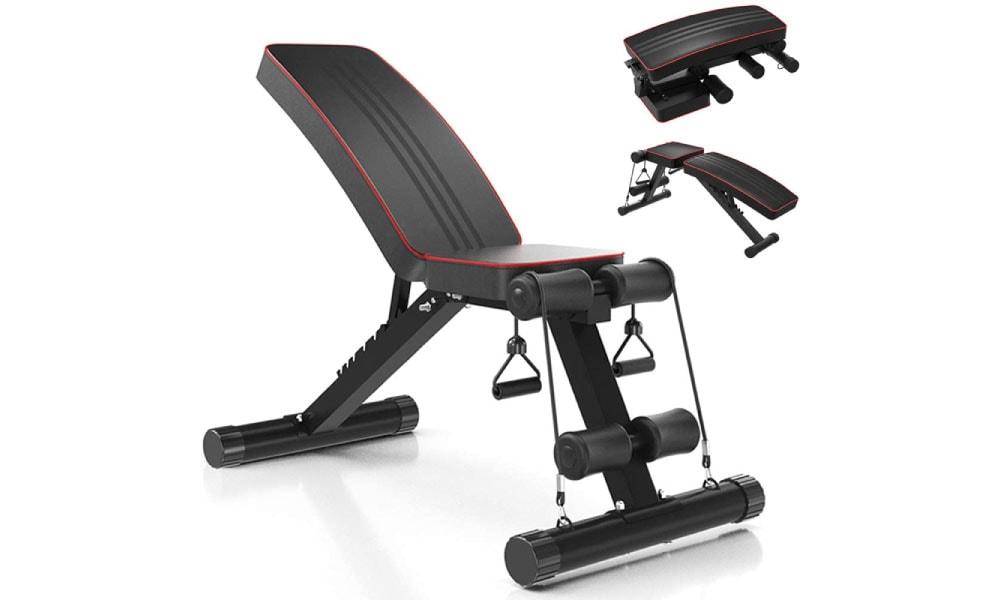 Yoleo banco de pesas ajustable para entrenamientos de cuerpo completo